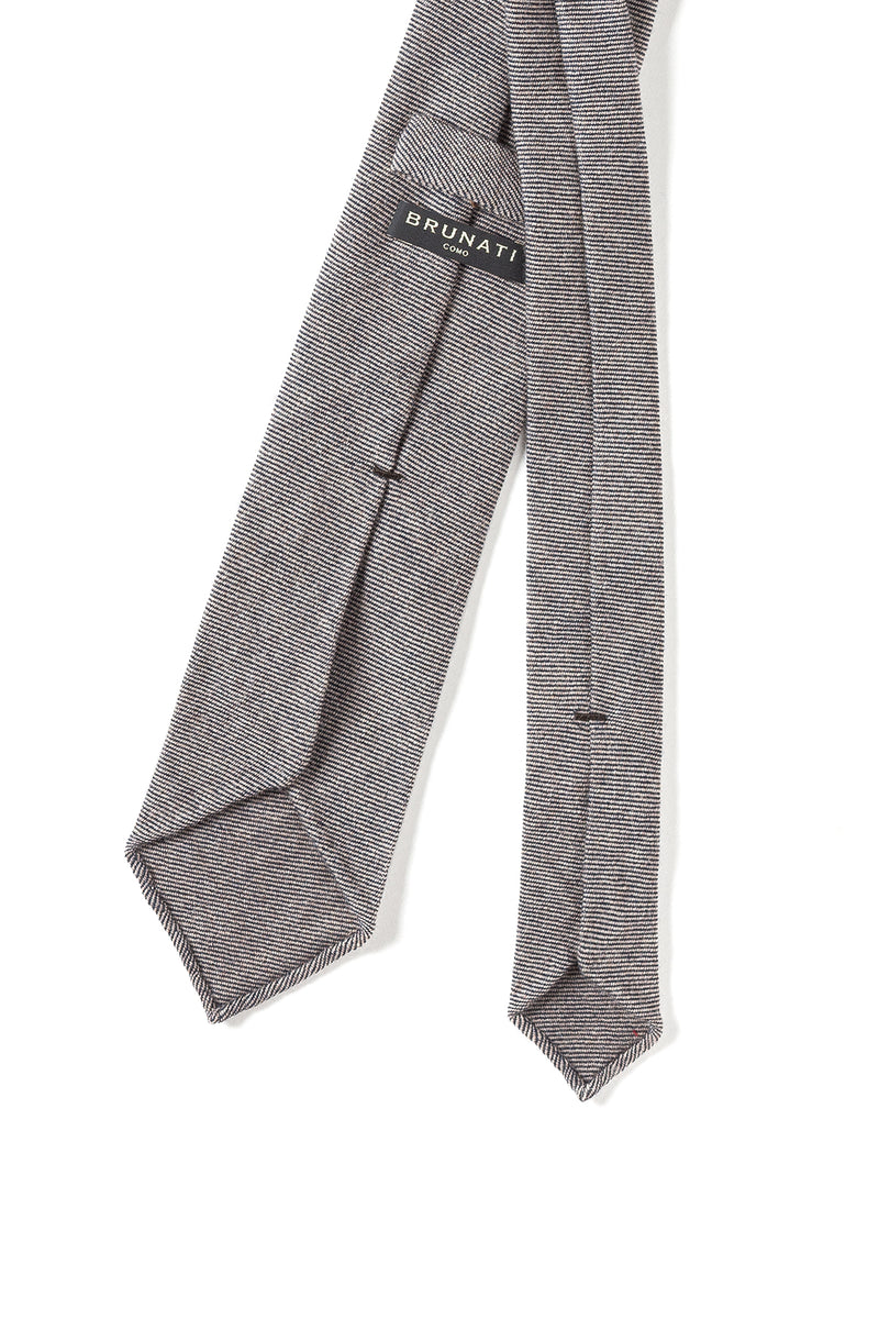 Cashmere Tie Brown Beige Stripes