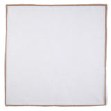 Shoestring Pocket Square Irish Linen - White/Beige - Brunati Como
