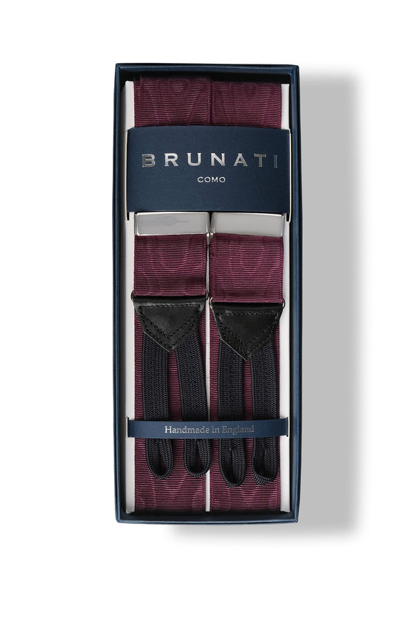 Moiré Rigid Braces - Purple - Brunati Como