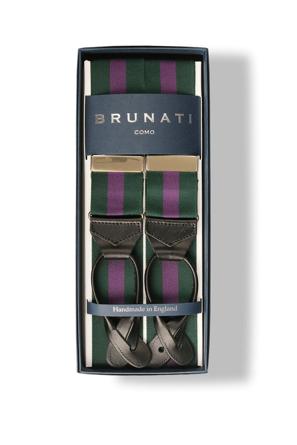 Striped Ribbed Rigid Braces - Wimbledon - Brunati Como