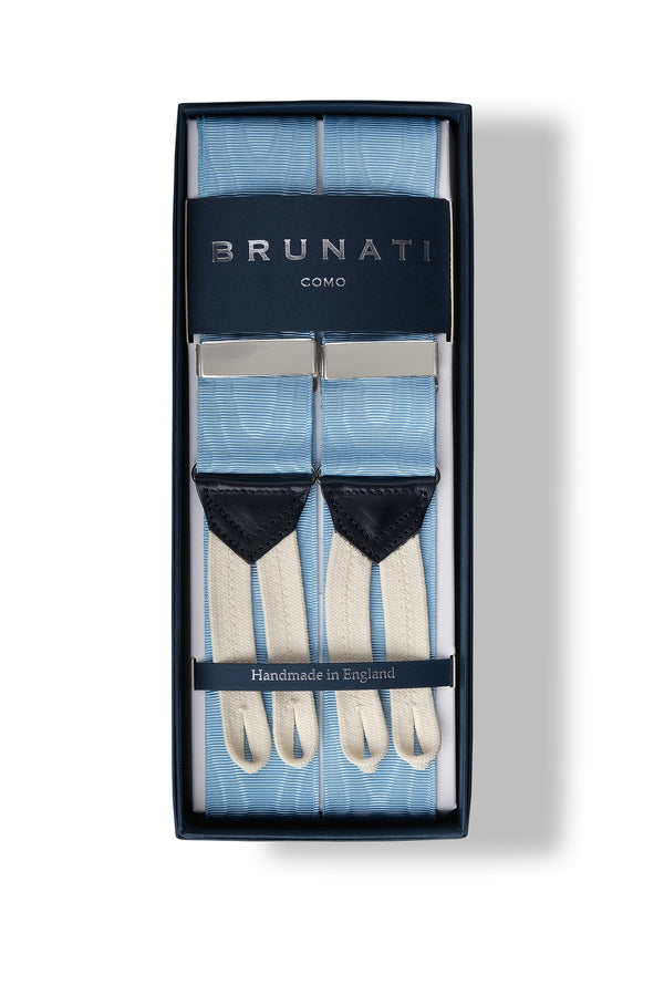 Moiré Rigid Braces - Light Blue - Brunati Como