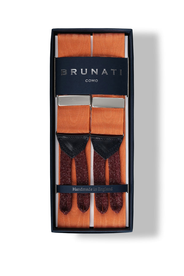 Moiré Rigid Braces - Light Orange - Brunati Como