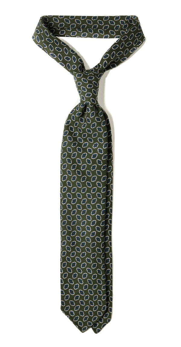 Macclesfield Floral English Wool Tie Brunati Como