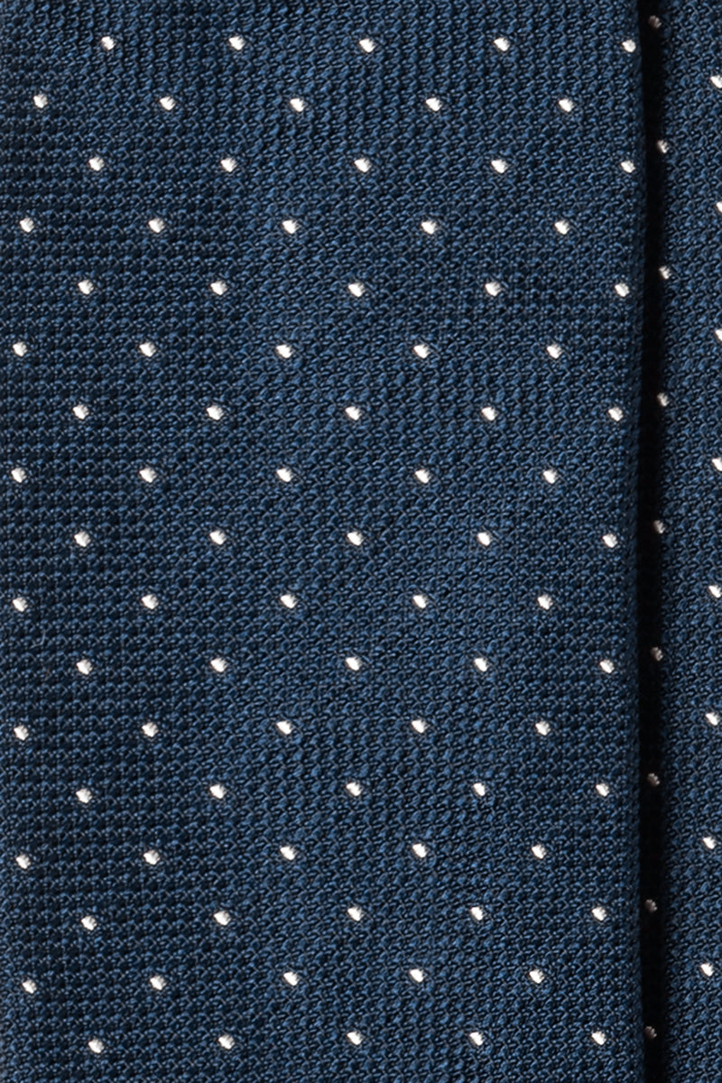Silk Grenadine Garza Fina / Blue white Small Polka dots - Brunati Como