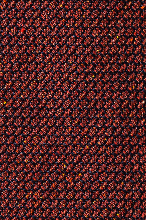 Silk Grenadine Tie - Orange