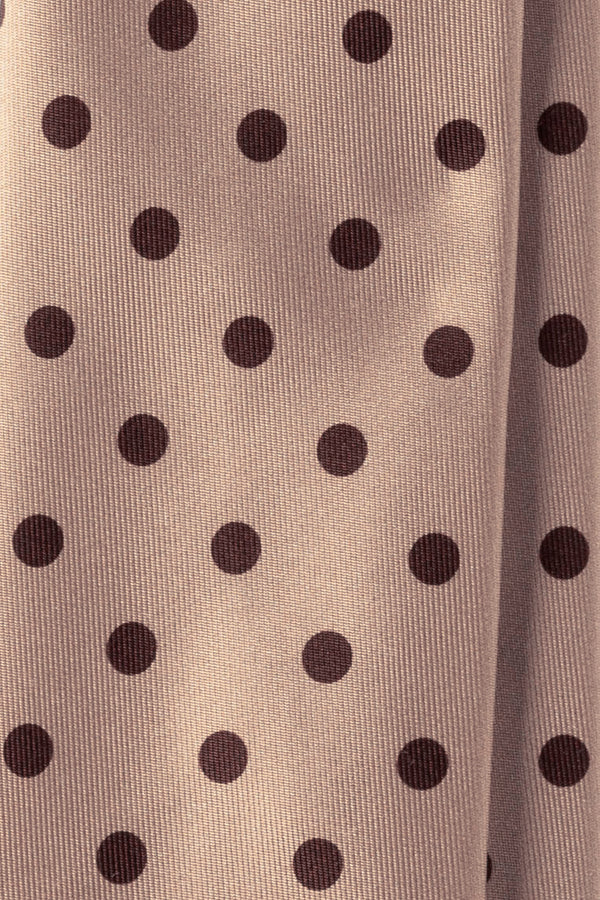 Handrolled Polka Dot Silk Tie – Crème / Brown - Brunati Como