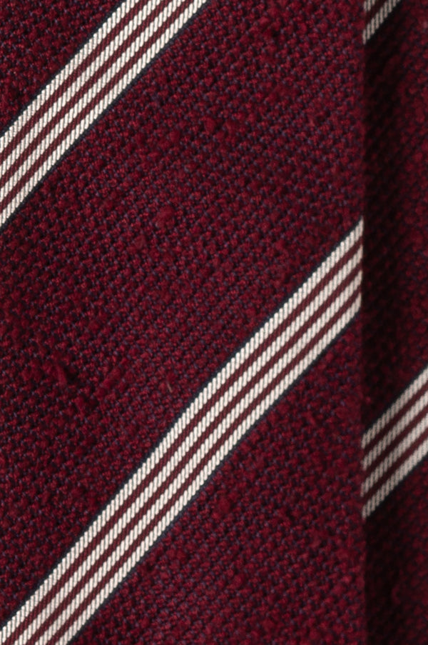 Grenadine Shantung Tie Bordeaux Red