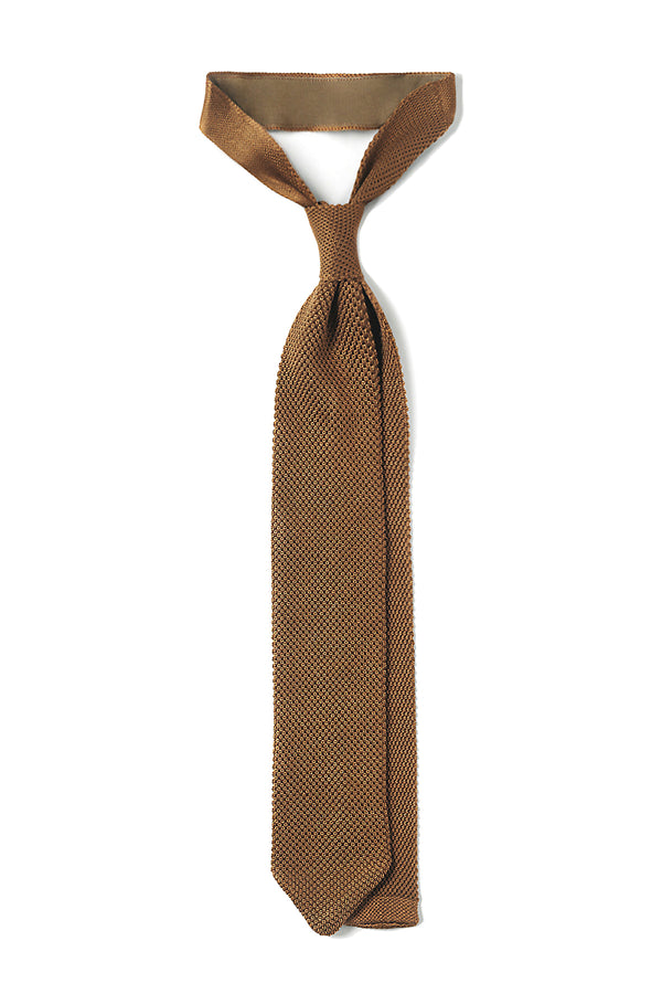 Italian Silk Knitted Tie - Gold