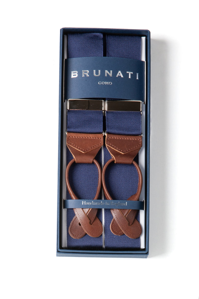 Rigid Braces | Blue Suspenders | Brunati Como | Albert Thurston