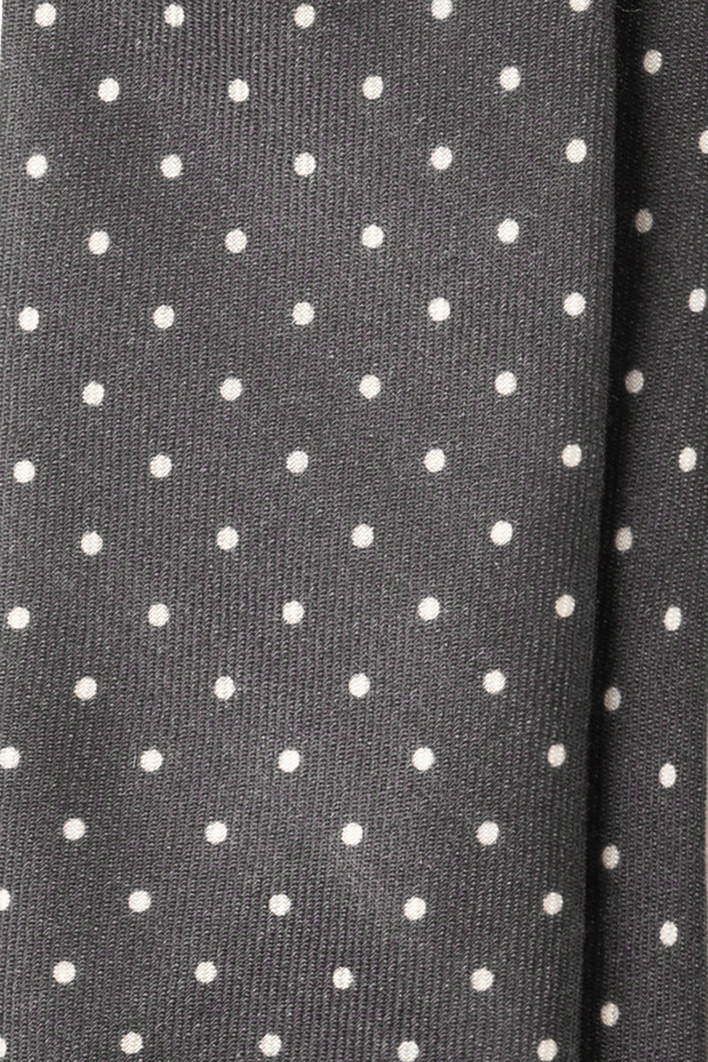 Polka Dot English Wool Fox Brothers Grey