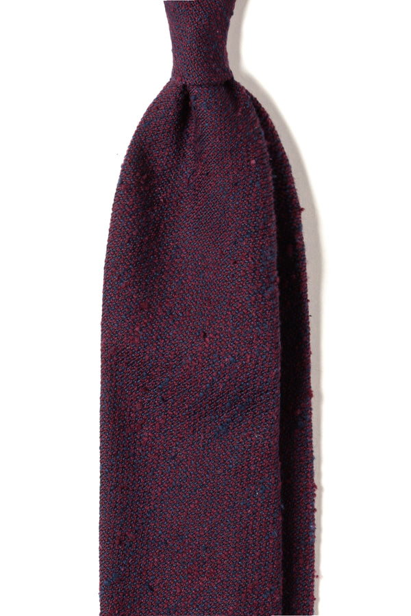 3-Fold Plain Silk Grenadine Shantung Tie - Purple