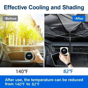 Summer Promotion🔥Foldable Car Sun Umbrella-Block Heat UV