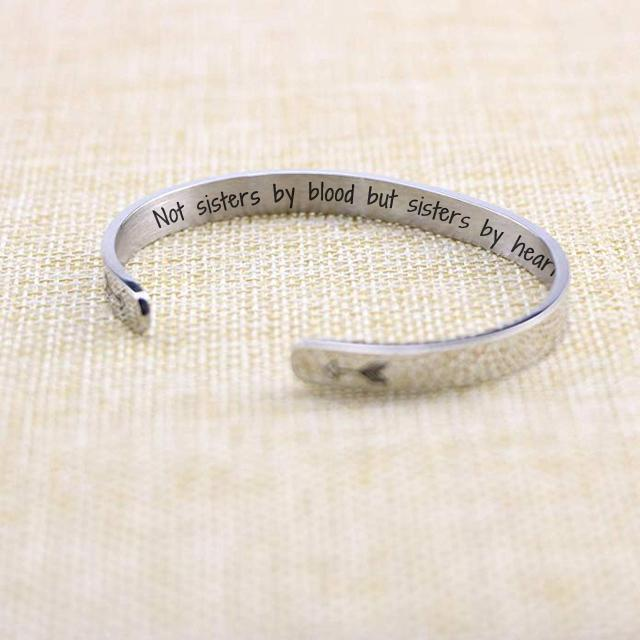 """Not Sisters By Blood But Sisters By Heart"" Bracelet"