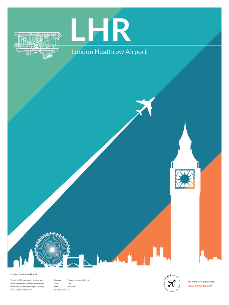 LHR - London Heathrow Airport Poster