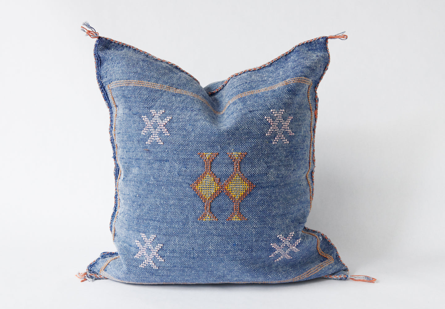 No.41 Washed Blue Sabra Silk Pillow