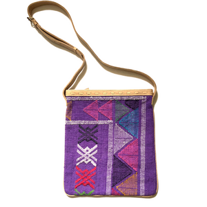 #019 Purple Sabra Silk Crossbody Bag