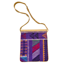 Load image into Gallery viewer, #019 Purple Sabra Silk Crossbody Bag