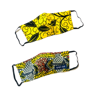 Double Sided African Print Mask 03