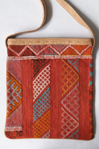 #020 Orange Sabra Silk Crossbody Bag