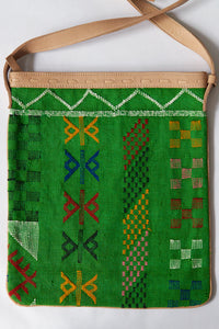 #016 Green Sabra Silk Crossbody Bag
