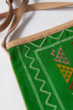 Load image into Gallery viewer, #016 Green Sabra Silk Crossbody Bag