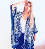 Load image into Gallery viewer, Silk, Indigo Dyed Robe