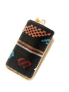 #013  Chocolate Sabra Silk Eyeglass Case
