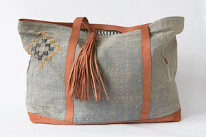 Gray Sabra City or Beach Tote