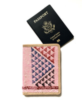 Load image into Gallery viewer, #004 Pink Sabra Silk Passport Wallet