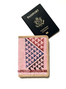 #004 Pink Sabra Silk Passport Wallet