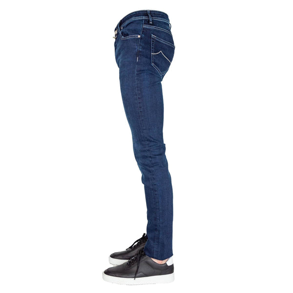 JACOB COHEN JEANS BROEK DARK WASH SLIM FIT JEANS 8364 - DONKERBLAUW