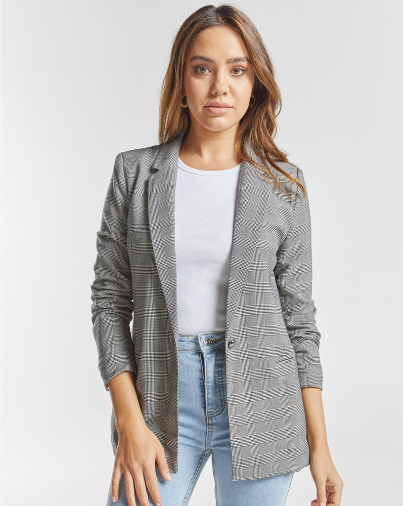 Load image into Gallery viewer, Zeena Checked Blazer