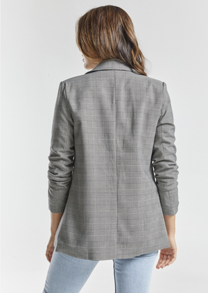 Zeena Checked Blazer