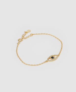 Load image into Gallery viewer, Maya Gold Eye Bracelet