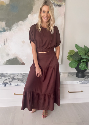 Saskia Skirt (Chocolate)