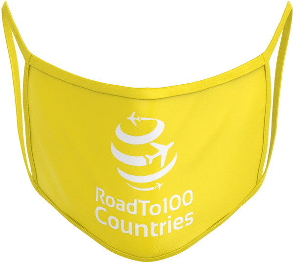 Road to 100 Countries Face Mask