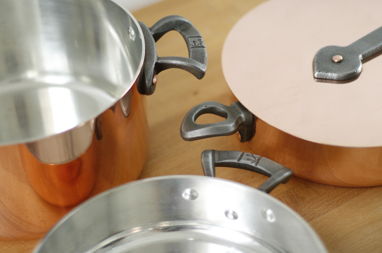 Brooklyn Copper Cookware handle details