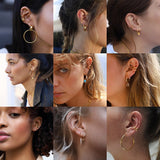 2020 New Fashion Pearl Ear Cuff Bohemia Stackable C Shaped CZ Rhinestone Small Earcuffs Clip Earrings for Women Wedding Jewelry