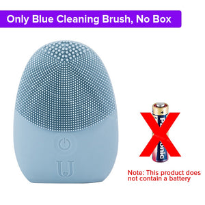Mini Electric Facial Cleansing Massage Brush Silicone Sonic Face Deep Cleanser Waterproof Skin Tools For JORDAN & JUDY