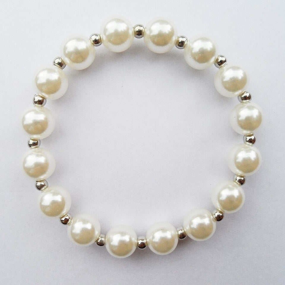 Fashion 10MM Pearl beads Summer wear bracelet jewelry for women,2019 top sale Imitation pearl bracelet good quality low price