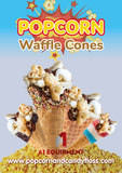 Popcorn waffle cone Supplies package