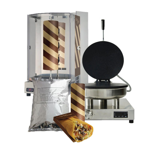 Chocolate Shawarma + Pita Maker + Free Starter Kit