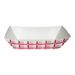Small Red & White Food Trays