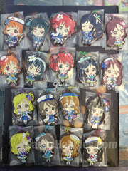Love Live Sunshine Flat Rubber Keychain 18 Pieces Set (In-stock)
