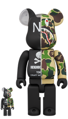 BE@RBRICK × BAPE(R) × NEIGHBORHOOD(R) 100% & 400%  Limited (Pre-Order)