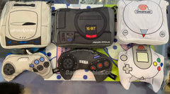 Sega Game Console & Controller Pouch Bags 6 Piece Set (In Stock)