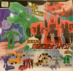 Colourful Robot Transform Toy 6 Pieces Set (In-stock)