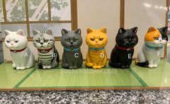 Cat in Paper Bag Figure 6 Pieces Set (In-stock)