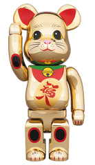 BE@RBRICK Fortune Cat Lucky Cat Gold-Plated 400% Limited (Pre-order)