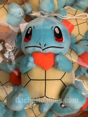 Pokemon Squirtle with Red Heart Plush (In-stock)